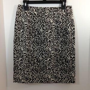 Ann Taylor LOFT Animal Print Lined Pencil Skirt.